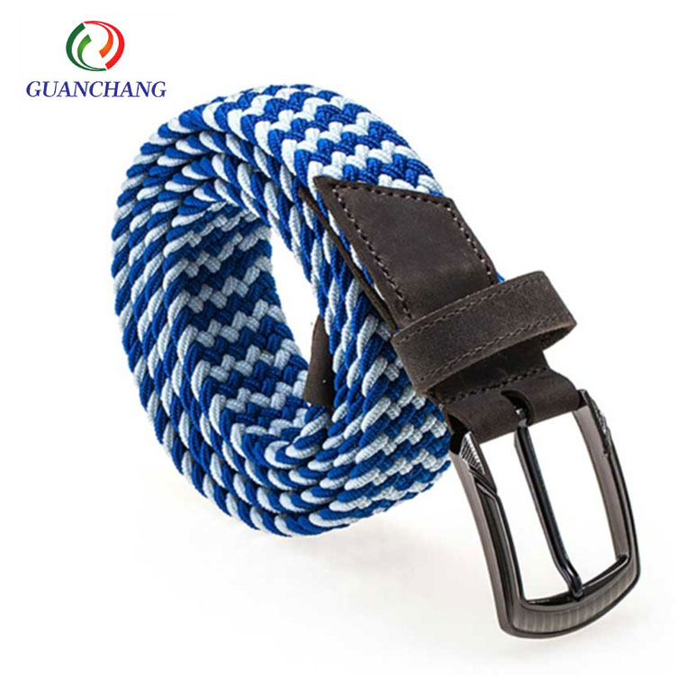 Eco-Friendly color custom logo printed waistband/ braided belts for men