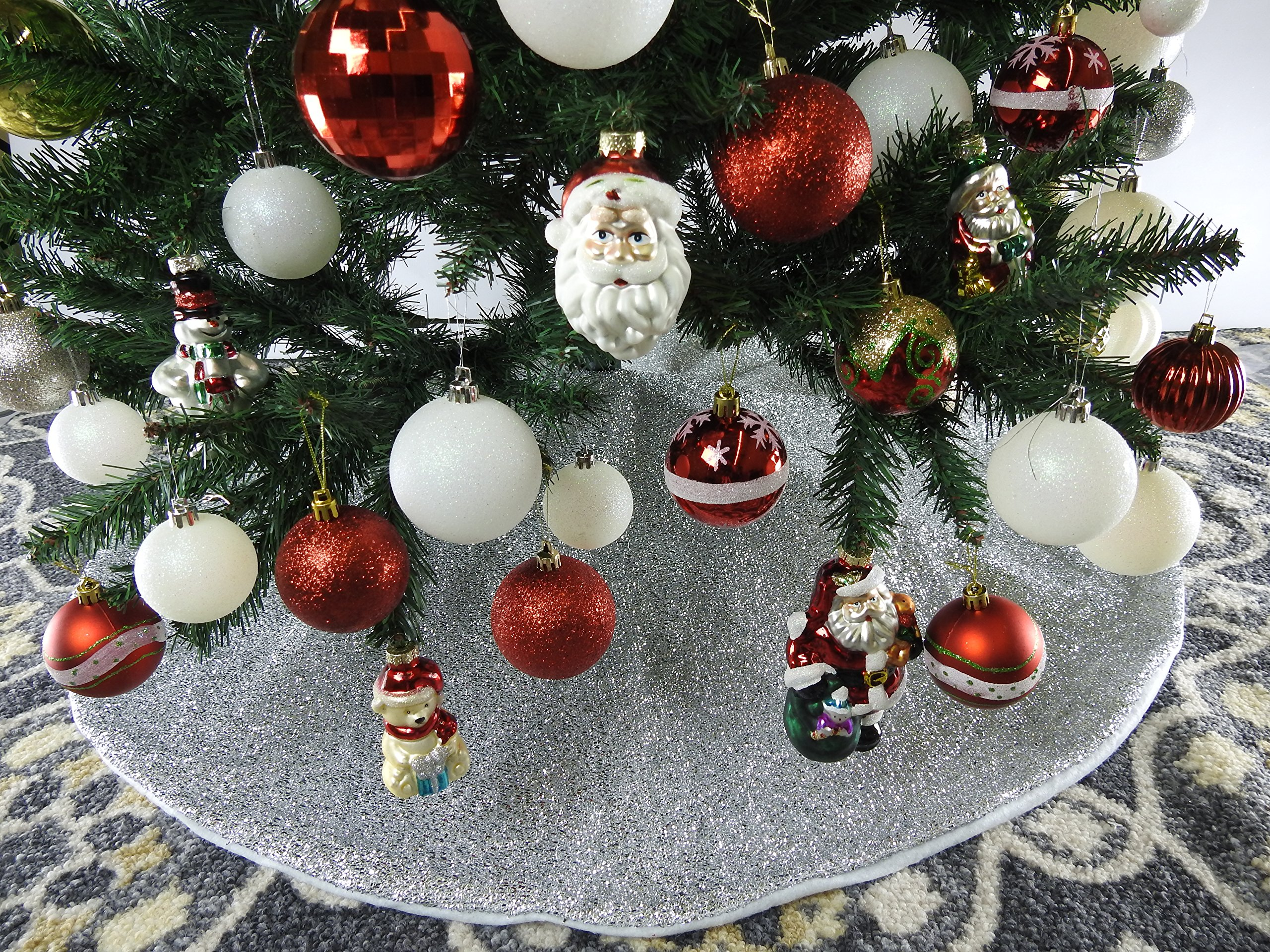 pangda burlap christmas tree skirt decorations for christmas 30 inches