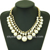 2014 big chunky pearl jewerly necklace