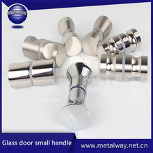 Stainless steel shower room glass sliding door double sided handle,small knob furniture handle