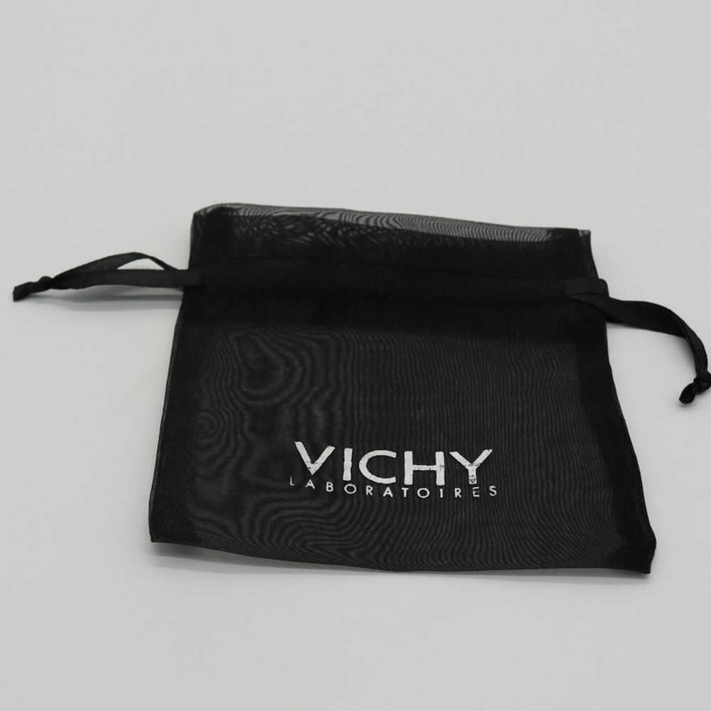 Wholesale Black Jewelry Packaging Pouch Organza Gift Bags With Logo