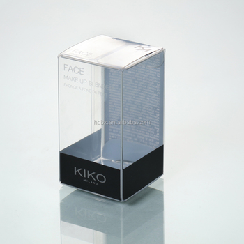 Clear plastic cosmetic packing box