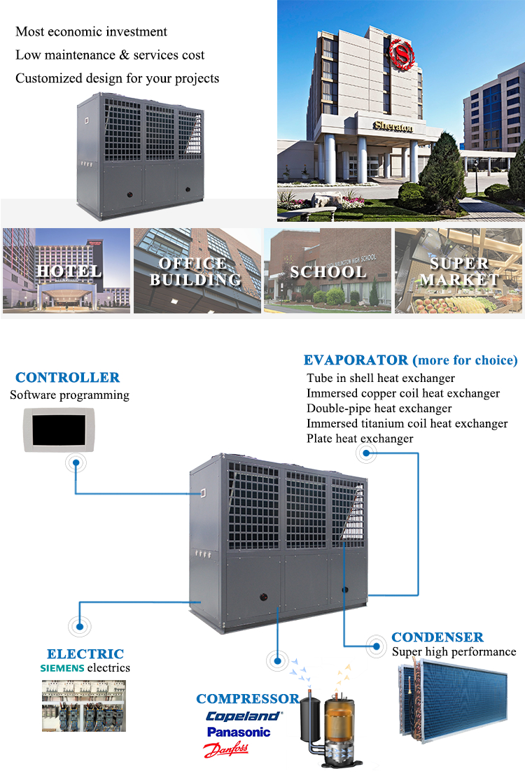 Altaqua 175kw/h air to air water chiller machine air conditioner