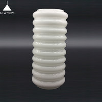 Mouth blown Opal white beaded round glass lamp shade milk cylinder lamp cover for pendant light hangging light chandelier