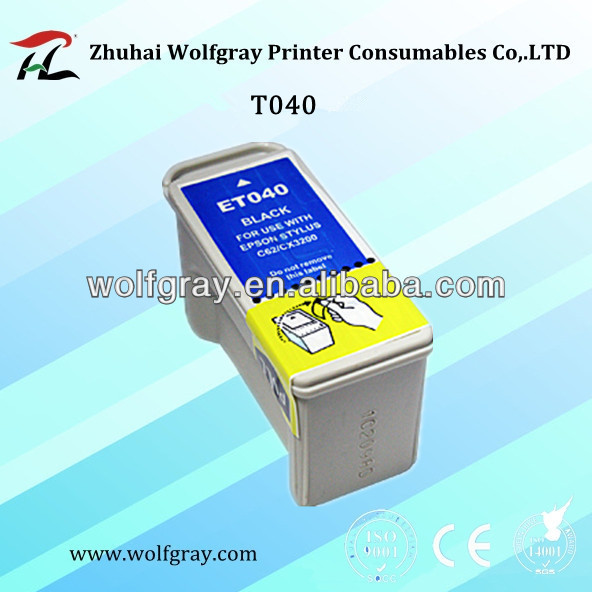 Compatible printer cartridge ink T040 for Epson ink