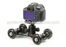 WholesalePrice! Mini Desktop Camera Rail Car Table Dolly Car Video Slider Track DSLR For 60d 5D2 7D 4 black Wheel
