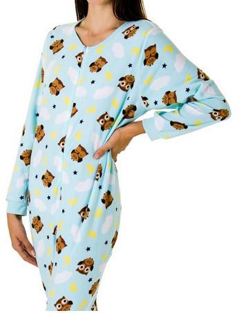 Wholesale Animal Owl Print Juniors Plush Onesie Footie Pajamas ...