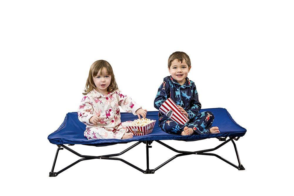 Regalo My Cot Portable Toddler Bed, Includes Fitted Sheet and Travel Case, Royal Blue