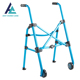 Portable high quality 2 wheels folding Aluminum Adults Patiens Walker for elder and handicapped