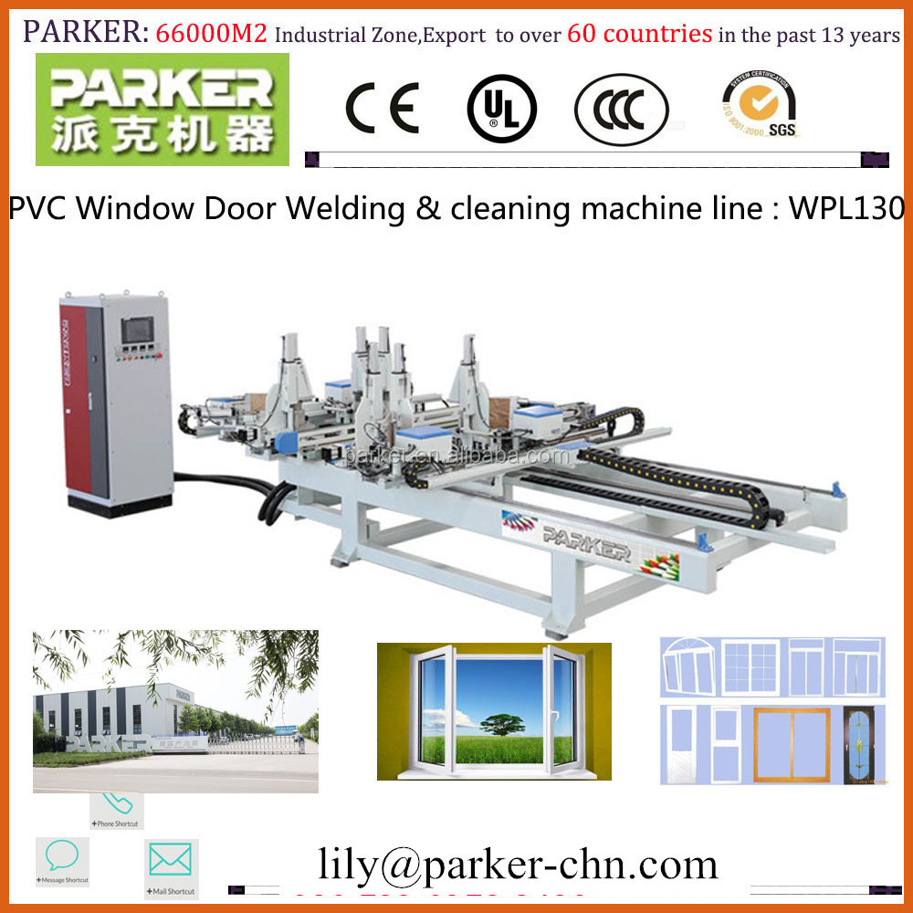 upvc window making machine PVC window door <strong>Welding</strong> and Cleaning Production Line