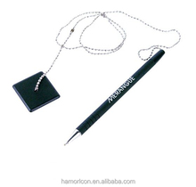 plastic funny magnetic desk stand pens for promotion with Bead chain
