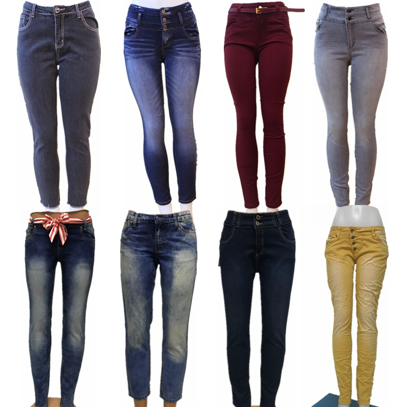 GZY wholesale mixed stock hot sexy blue firm skinny fitted pants butt lift  small boots latest women jeans girls in bulk