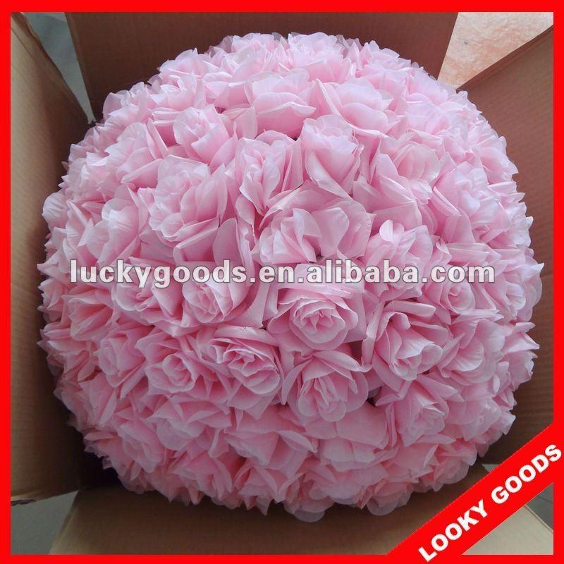 60 cm diam tre grande rose fleur d corative balle d corative rose artificielle boule de fleurs. Black Bedroom Furniture Sets. Home Design Ideas