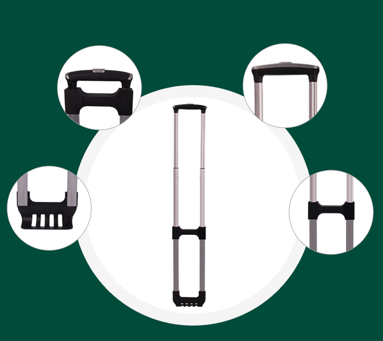 Detailed parts of luggage accessories