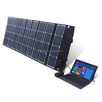 120W 18V/5V folding solar panel for solar car battery charger for pc, phone