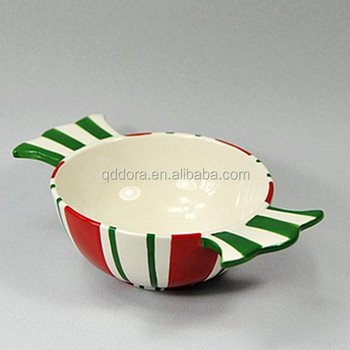 Christmas Bowl With Two Handle,Hand Painted Bowl For Christmas ...