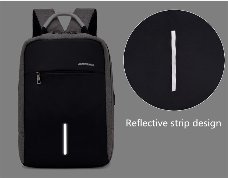 Commuting Integrated Laptop Backpack 15.6 Inch with USB Charging Port Business Backpacks Notebook Travel bag for Men