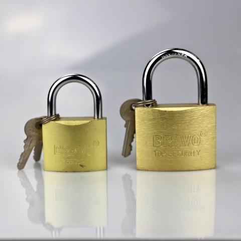 sand polished iron padlock 32mm