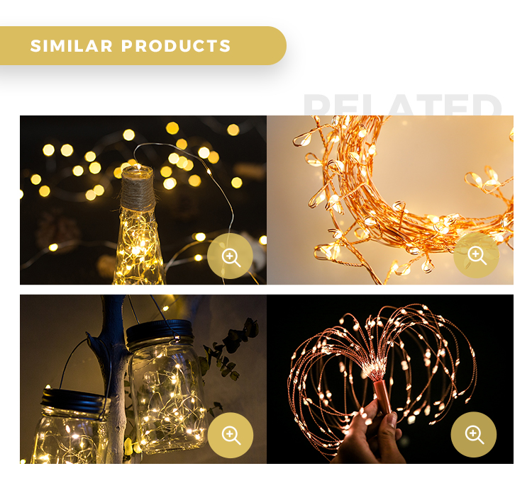 Led Copper Wire String Light 1M 10LED/2M 20LED/3M 30LED CR2032 Battery Operated Micro Mini LED Starry Lights String for Wedding
