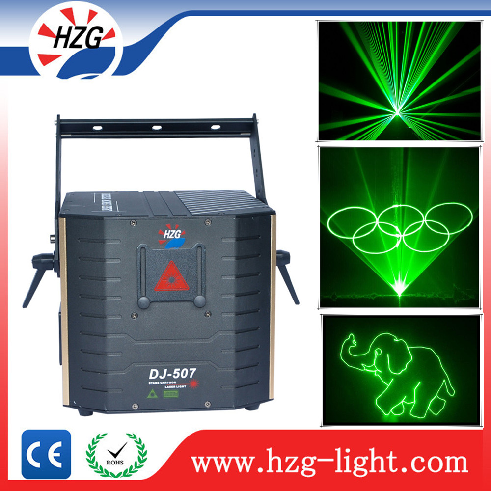 HZG programmable dj light laser display system 3W Green laser spot light diy text logo advertising night club lighting