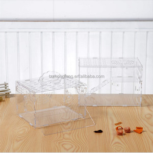 wholesale Transparent acrylic hamster cage Pet luxury Hamster cage accessories#L25*W20*H20CM
