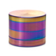 2016 wholesale best selling aluminum alloy colorful herb grinder with rainbow