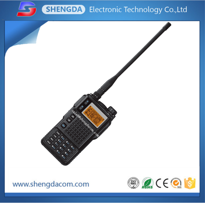 Tri Band, dual display, dual standby handheld ham radio or walkie talkie with scramble function
