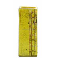Terra Cotta Ruler Vase, Yellow