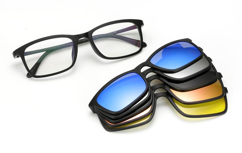 nuovo arrivo 503dd 193fc Boyarn Ultra-luce Polarizzata Clip Su Occhiali Da Sole Donne Degli Uomini  Magnetici Occhiali Montature Per Occhiali Tr90 Vetri Ottici Telaio 8803 -  ...