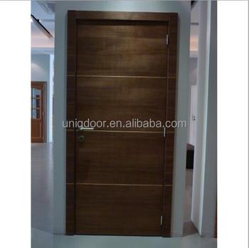 Charmant Aluminum Strips Decoration Flush Panel Internal Door