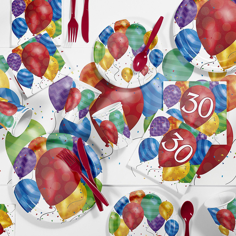 Balloon Blast 30th Birthday Party Supplies Kit