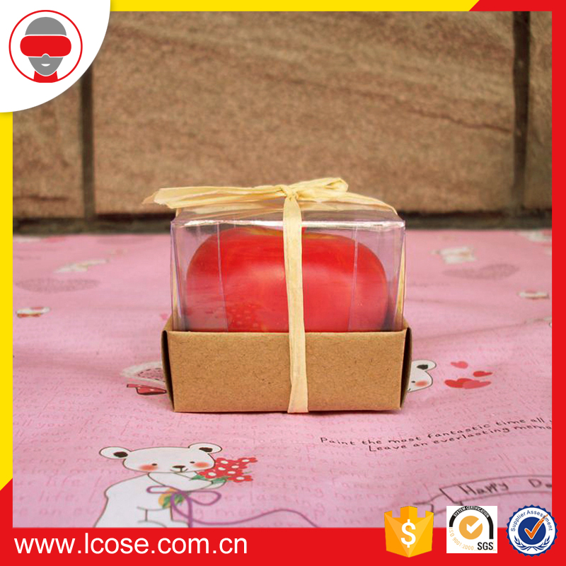 wholesale apple shaped christmas decorating gel candle wax decorative candle