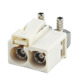 Fakra Code B Female Double Jack Right Angle Connector for RG316 RG174