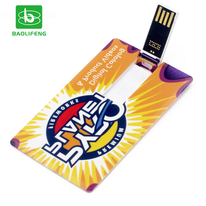 Customized Logo/image credit card usb 2gb card usb with factory price