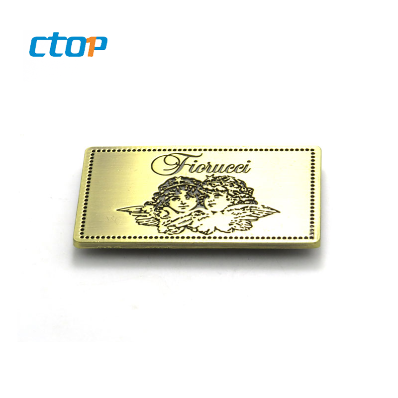 Wholesale custom logo for bags hardware accessories tag name brand clothing label brand label custom metal logo
