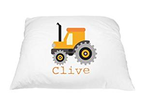 Personalized Kid's Tractor Pillowcase Cover Microfiber Polyester 20 by 30 Inches, Tractor Bedding, Tractor Pillow, Tractor Decorations, Personalized Gifts for Kids, Tractor Toy, Tractor Accessories