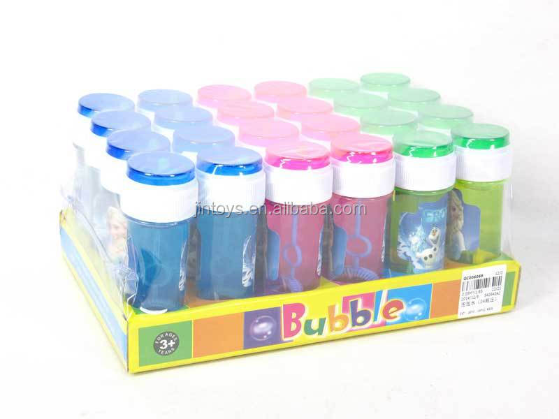 New style 6 in 1 bubble toy kids pladtic bubble bottle for How to make a bubble blower from a water bottle