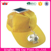 Hot Sale Yellow Solar Cooling Fan ack Mesh Baseball Caps In Summer