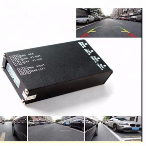4 channel car Full round view Car camera video splitter control box quad camera side view camera video switcher box system
