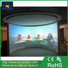 XY SCREEN 180 degrees circular projection screen with 4K white-black pvc fabric projection screen fabric