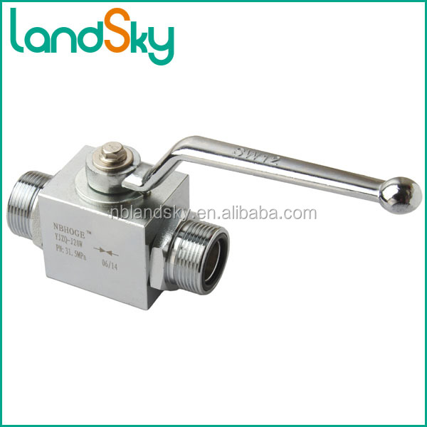 LandSky split body manifold high pressure manual type ball valve italy images JZQ-H6L carbon stainless steel brass M16X1.5 DN 6