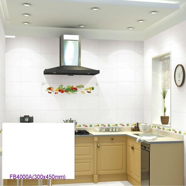 Kitchen Tiles Product: 30x40 White And Black Ceramic Kitchen Tile