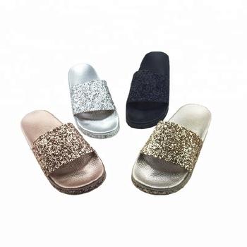09b15d0b3dbe2 Alibaba Bling Slide Shoes Ladies Designs Sleepers For Sale - Buy ...