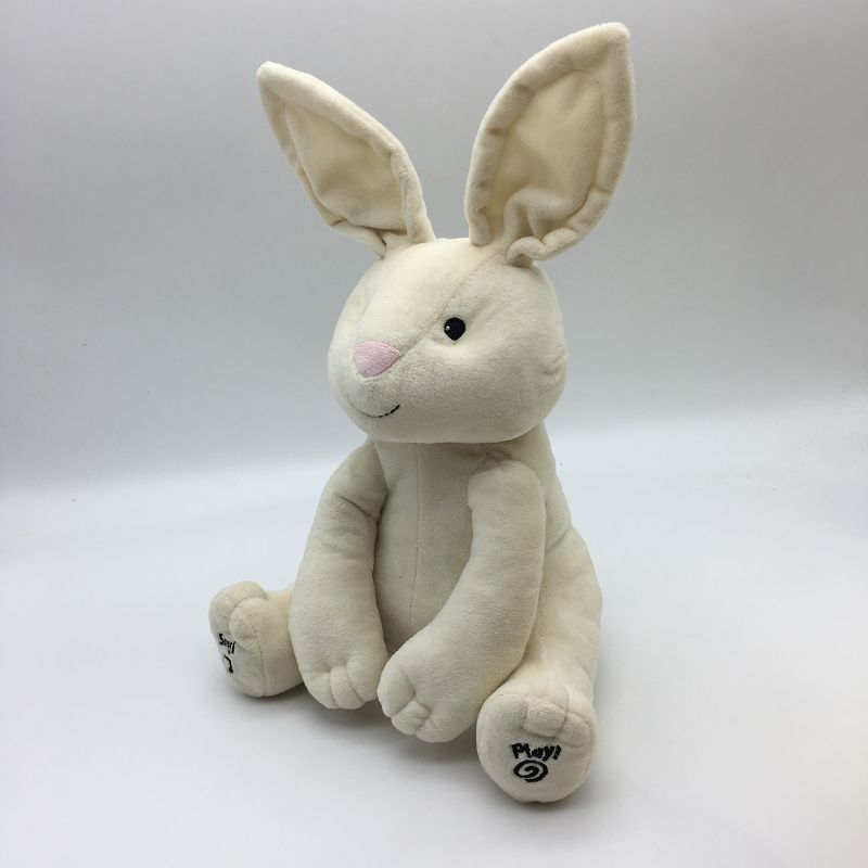 2018 comforter <strong>rabbit</strong> with musical plush doll toy