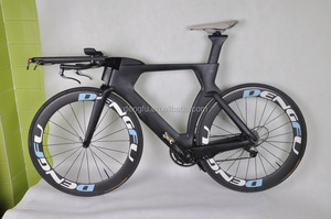 high-end quality full carbon bike TT/time trial/triathlon bike race bike,dengfu bike TT01 BB86 and battery design bike hot sale