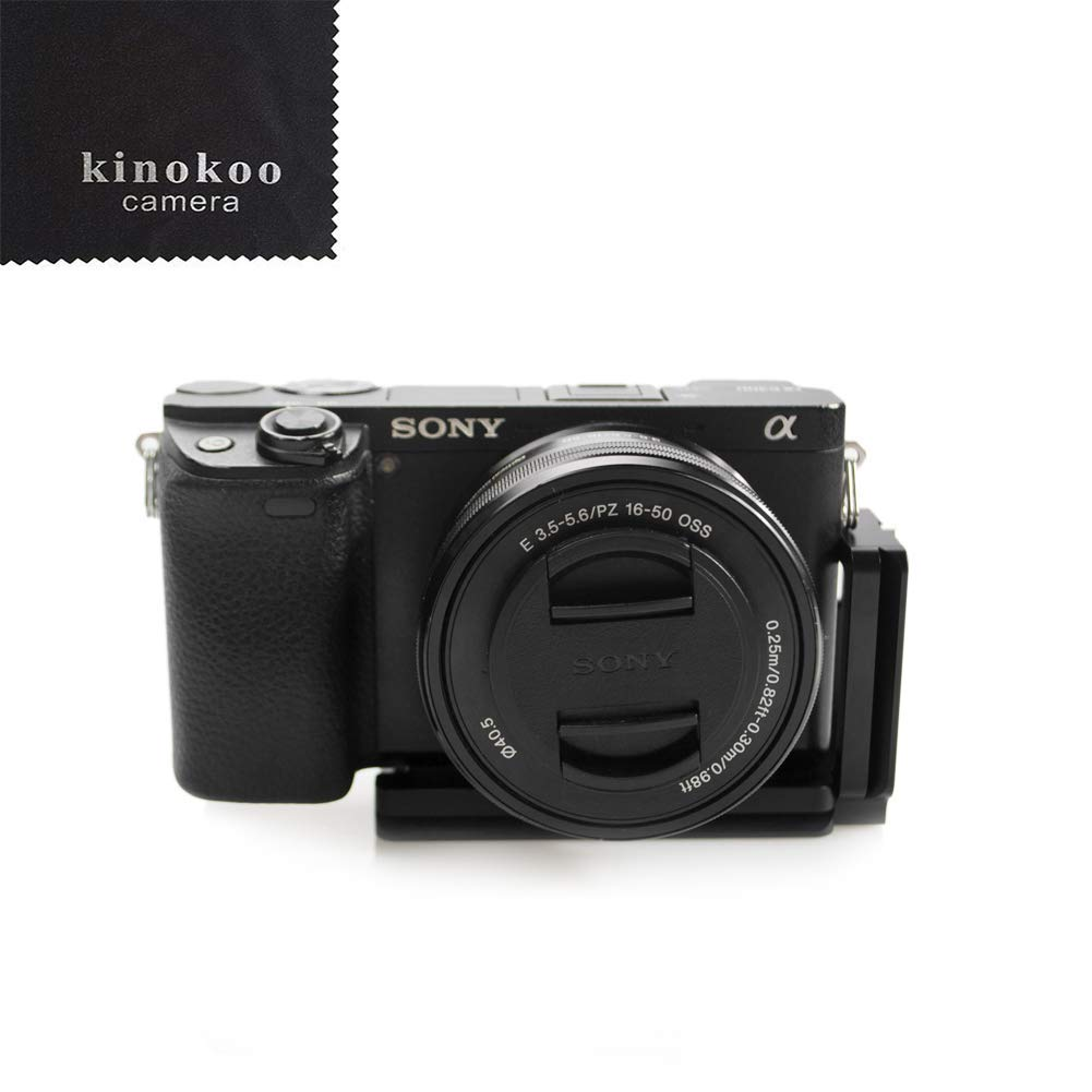 kinokoo L Shape Plate Bracket Holder Vertical Quick Release Plate for Sony A6000 A6300 A6500 Arca Swiss Standard