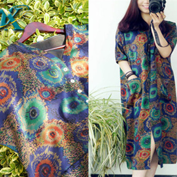 Chinese print silk ethnic style dress for sale