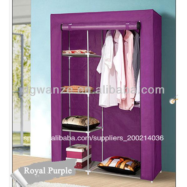 De alta calidad tela plegable estantes armario para la ropa otros muebles plegables - Armarios de plastico para ropa ...