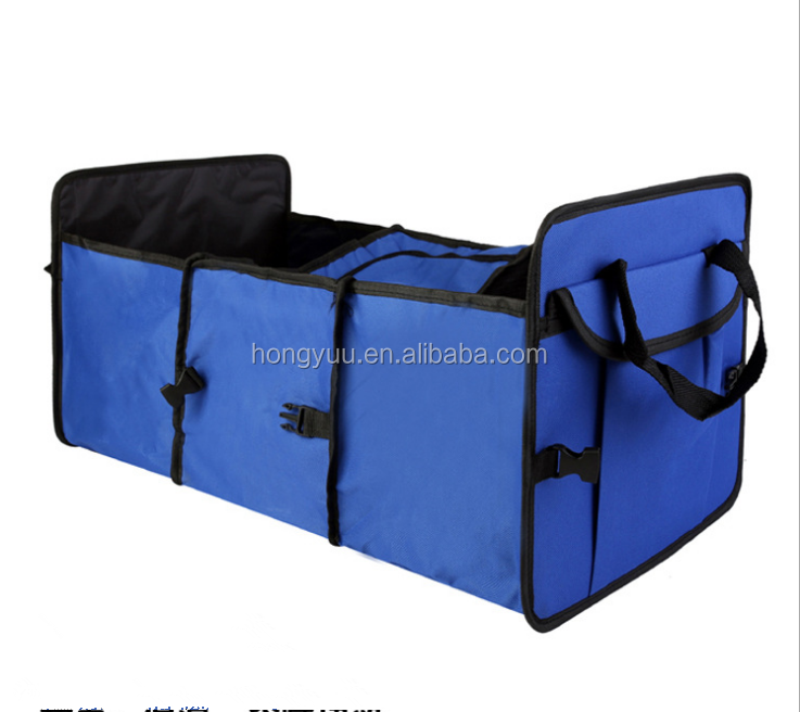 Car Trunk Organizer with Cooler for Car SUV Truck Collapsible Auto Trunk Organizer with Insulated Cooler