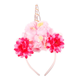 AP32127 High quality unicorn headband pony hairband horn hair band kids party head band